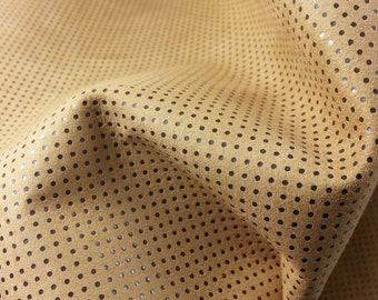 Skins of Chamois with polka dots laminated