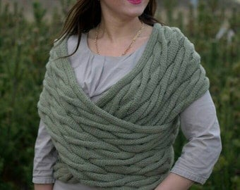 Hand made, hand knitted merino wool women's vest.