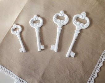 Decorative plaster keys (bomboniere)