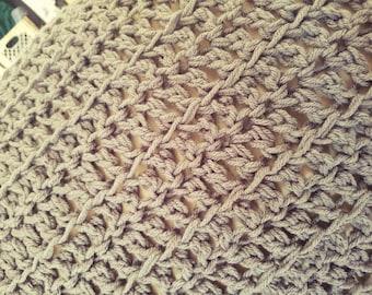 Gray Crochet Afghan Crochet Blanket