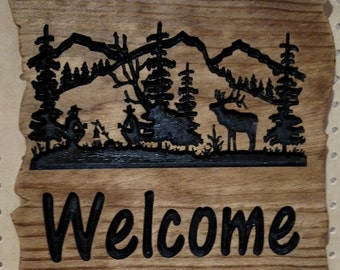Campfire Welcome Sign