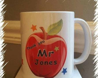Teachers personalised mug