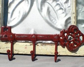Skeleton Key Hook/Car Key Wall Hook / Key Rack/ Cast Iron Wall Hook / Keys / Foyer Entrance Key Rack / Key Hanger Hooks / Housewarming Gift