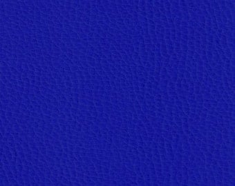 Sold by the meter Royal blue leather imitation leatherette width 140 cm