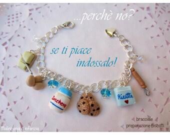 "Fimo bracelet ""Brownie cakes""-Malinconiadinfanzia-Handmade"