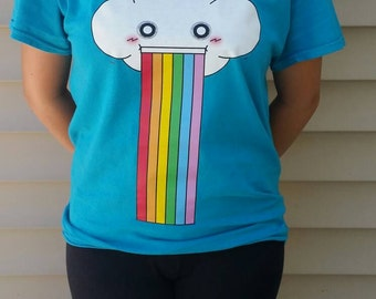 Cloud Puking out Rainbow T-shirt