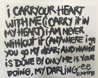 I Carry Your Heart Canvas Art