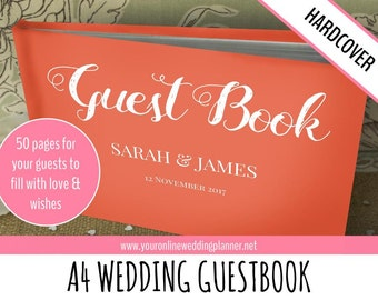 Wedding Guest Book, Personalised, CUSTOM Guest Book