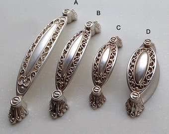 furniture pulls. french shabby chic dresser drawer pulls handles antique silver cabinet pull handle knobs furniture hardware e