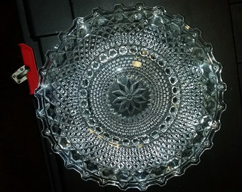 Vintage Glass Plate-10""