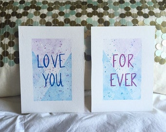 Love You Forever Watercolor set