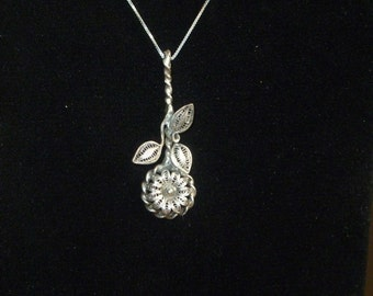 Antique Silverware Pendant Necklace