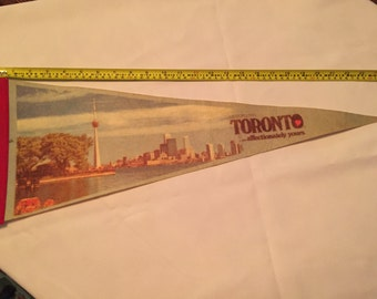 Vintage Toronto Pennant...affectionately yours