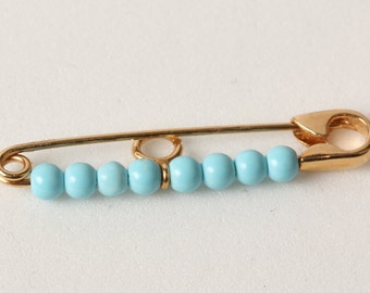 PIN gold turquoise