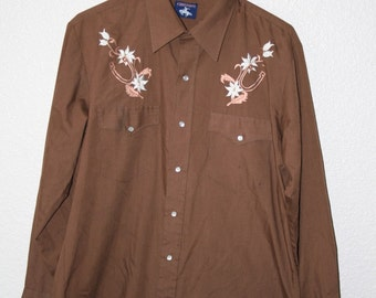 Vintage Embroidered Western Shirt by Chute