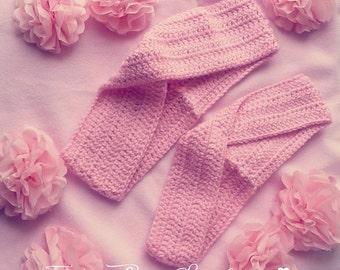 Light Pink Crochet hair accessories