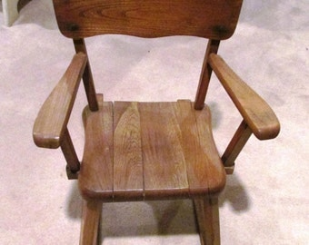 vintage Child's wood Rocking Chair