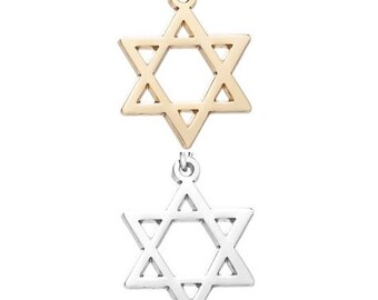 The star of David (silver or gold tone) [5 pieces]