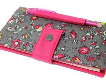 door checkbook flowery fabric location integrated pen