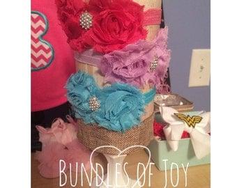 Embellished flower headband
