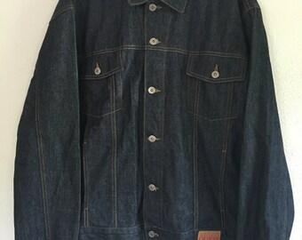 Men's Guess Dark Wash Denim Jacket, size XXL