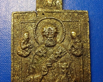 Bronze Icon 18-19 century. Saint Nicholas.