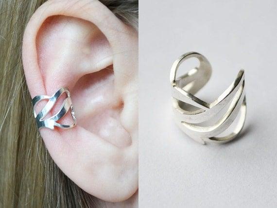 d1f5a4cb8 sterling silver hoop earrings, unusual gift, sterling silver jewelry, clip  on earrings,