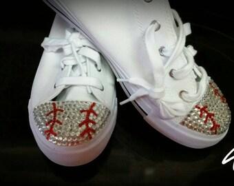 Baseball bling tennis shoes