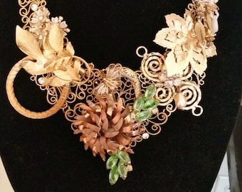 Striking Artisan Statement Necklace