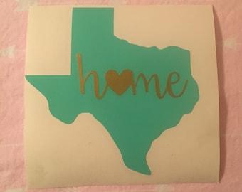 "4"" Texas home decal"
