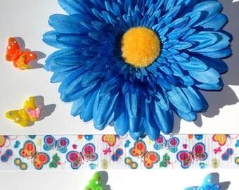 Inspiration Embellishment Kit Gerbera Daisy Silk Flower Grosgrain Ribbon Butterfly Resin Flatbacks Hair Bows Hats Home Decor Scrapbooking