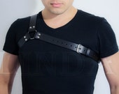 Leather Harness, Black men Leather Harness, Chest Harness, Bondage harness, fetish bondage, harness lingerie, body harness