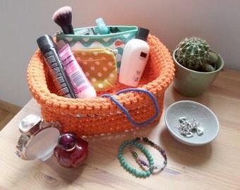 Crochet basket – Orange