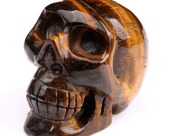 """Excellent Tiger eye Skull Head 2"""""""