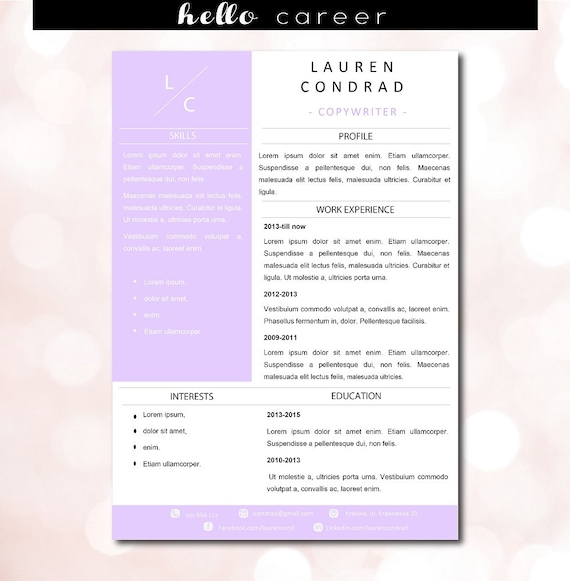 creative violet template modern resume template