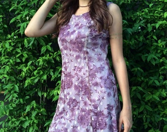 Purple lace vintage mini dress