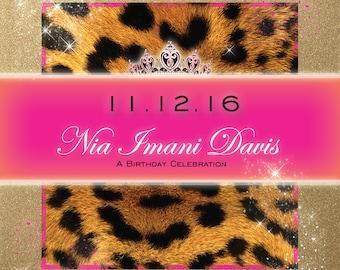Leopard Princess Birthday Invitations