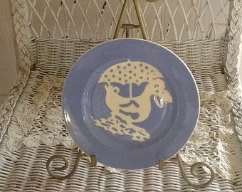 SALE REDUCED!  Vintage child's plate, neat display for nursery, Manufac. Mark