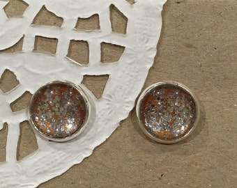 Glass Glitter Earrings