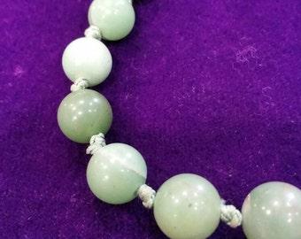 Vintage real jade bead necklace