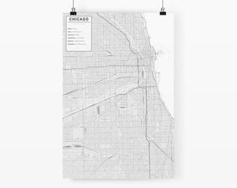 Chicago, Illinois City Map