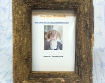 Rustic, Weathered Picture Frame 5x7