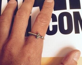Dagger Ring / Alpaca Silver Ring / Dagger