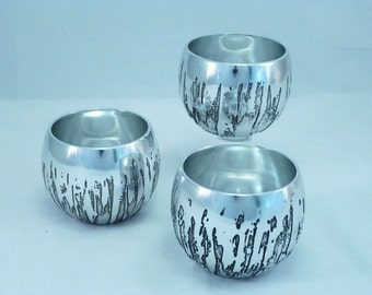 Brutalist Plated Tealight Candle Holder 3 Available