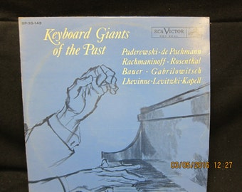 Keyboard Giants of the Past - Paderewski, de Pachmann, Bauer, Gabrilowitsch and more - RCA Records (1962)