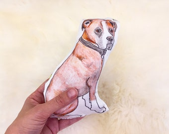 Boxer organic baby rattle | hand illustrated | dog toy or pet toy | soft toy | plush dog