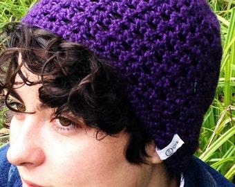Purple Lacy Beanie