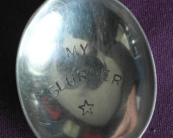 hand stamped cutlery soup spoon my slurper