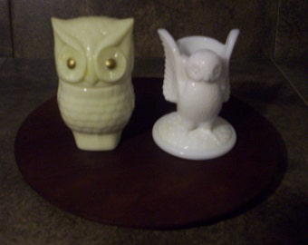 Vintage Owl Collection 2 Pieces.