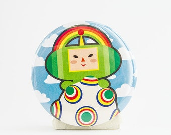 "Prince and Katamari 2.25"" Pinback Button / Magnet - Katamari Damacy inspired"